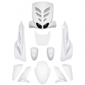FAIRINGS/BODY PARTS BCD FOR SCOOT MBK 50 STUNT/YAMAHA 50 SLIDER WHITE (XTREME, 9 PARTS) **
