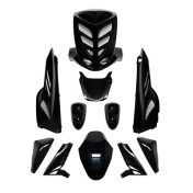 FAIRINGS/BODY PARTS BCD FOR SCOOT MBK 50 STUNT/YAMAHA 50 SLIDER BLACK (XTREME, 9 PARTS) (CEE APPROVED)