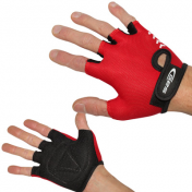 CHILD CYCLING GLOVE-SUMMER - GES KIDDY RED T 4 (PAIR ON CARD)