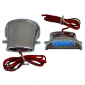 DECORATIVE LIGHTNING REPLAY (UNDER FLOOR BOARD) CHROME WITH BLUE LEDS (L 58mm / H 27mm / W 60mm) (PAIR) **