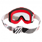 MOTOCROSS GOGGLES PROGRIP 3201 RED CLEAR VISOR ANTI-SCRATCH/U.V. PROTECTIVE