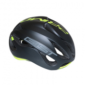 ROAD BIKE ADULT HELMET-GIST PRIMO BLACK MAT/YELLOW FLUO FULL IN-MOLD SIZE 56-62 -RATCHET SETTING- 250GRS